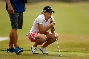 Haley Millsap on the Champions course during Saturday of LPGA Q-School. Millsap is T14 after four rounds.