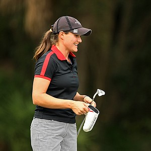 Stephanie Kenoyer just squeeked into Sunday play with players being cut at 70 and ties after Saturday of LPGA Q-School.