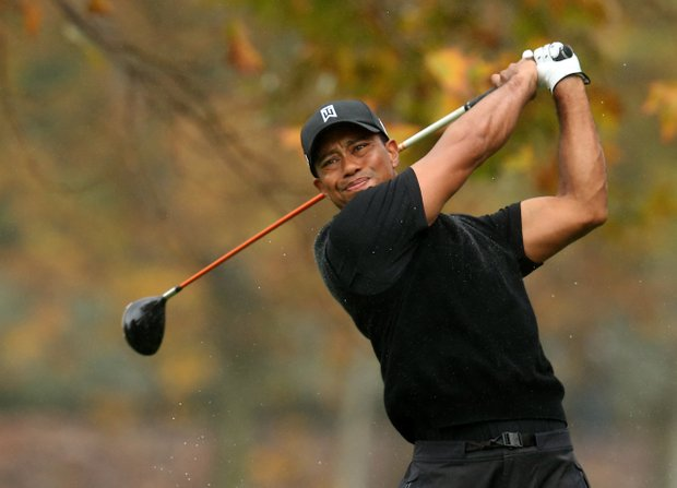 Tiger Woods will play with Bo Van Pelt for the second time in three days, with both players five shots back.