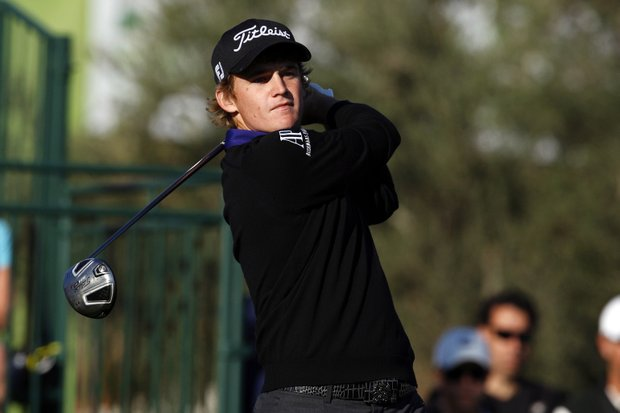 January 19, 2012: Bud Cauley in action during the first round of the Humana Challenge In Partnership With The Clinton Foundation at La Quinta Country Club in La Quinta, California.