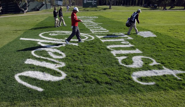 Jason Dufner walks the 10th hole during the first round of the Northern Trust Open golf tournament at Riviera Country Club in Los Angeles, Thursday, Feb. 16, 2012.