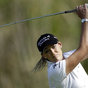 Cristie Kerr hits her tee shot on the 14th hole during the first round of the Kia Classic LPGA golf tournament Thursday, March 22, 2012, in Carlsbad, Calif.