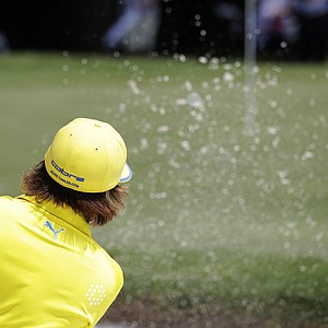 Rickie Fowler on the eighth green during the second round of the PGA Colonial golf tournament Friday, May 25, 2012, in Fort Worth, Texas.