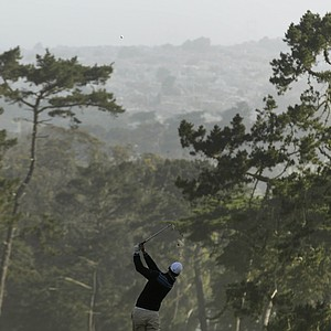 Martin Kaymer, of Germany, hits a drive on the third tee during the second round of the U.S. Open Championship golf tournament Friday, June 15, 2012, at The Olympic Club in San Francisco.