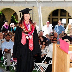 LPGA golfer Michelle Wie receives her degree from Stanford's Department of Communication on June 17, 2012.