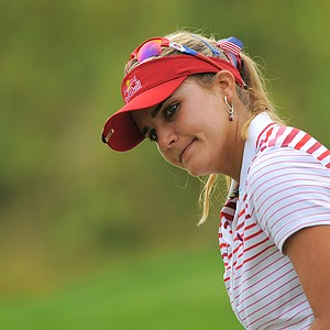 Lexi Thompson during a practice round for the US Women's Open at Blackwolf Run on July 4, 2012 in Kohler, Wisconsin.