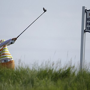 South Korea's Na Yeon Choi drives off the seventh tee during the first round of the U.S. Women's Open golf tournament on Thursday, July 5, 2012, in Kohler, Wis.