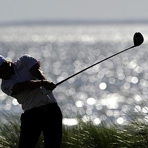 Bud Cauley tees off on the 14th hole during the third round of the McGladrey Classic PGA Tour golf tournament Saturday, Oct. 20, 2012 in St. Simons Island, Ga.