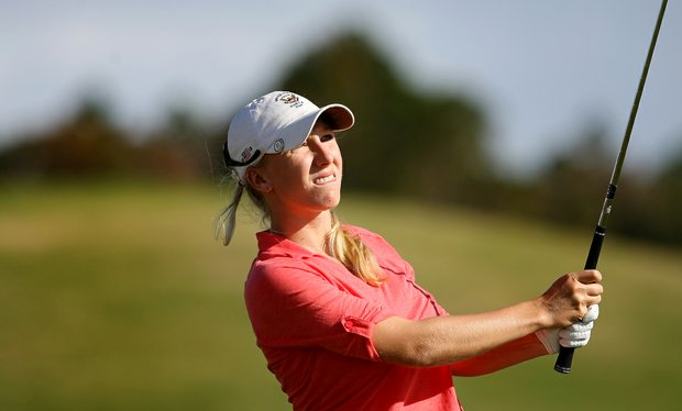 Brooke Pancake during the final round of LPGA Q-School. Pancake finished T11 to earn her card.