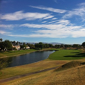A look at the par-5 5th hole on the Stadium Course at PGA West in La Quinta, Calif.
