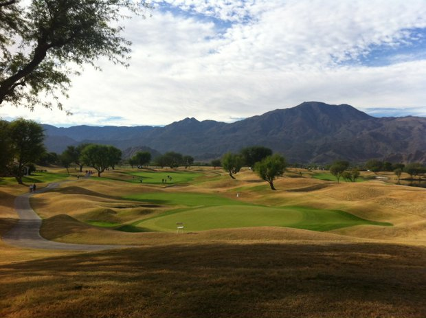 A look from the behind the first green at PGA West's Stadium Course in La Quinta, Calif.