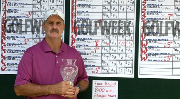 Robert Parmer of Fairhope, Ala., won the Golfweek Senior Tour Championship on Dec. 3 at Grand Cypress Golf Club in Orlando, Fla.
