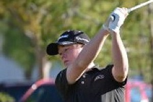 Sean Crocker belts a drive during his win at the GJT West Region Fall Tour Championship.