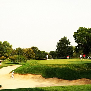Max Homa plays out of a bunker at Cherry Hills during the U.S. Amateur Championship.
