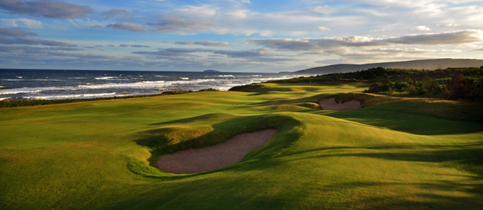 The 16th hole at Cabot Links.