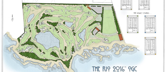 Hanse Golf Design's Rio 2016 Olympic Golf Course conceptual routing plan.
