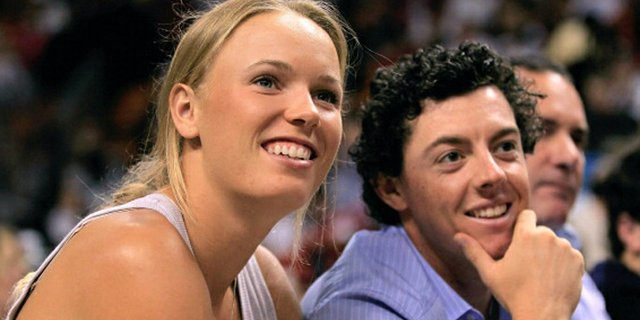 Rory McIlroy and girlfriend Caroline Wozniacki have sparked engagement rumors once again after she was spotted wearing a huge diamond on her left ring finger in Australia on Friday.