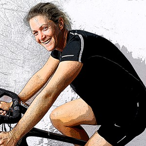 Suzann Pettersen and her newest hobby of road cycling.