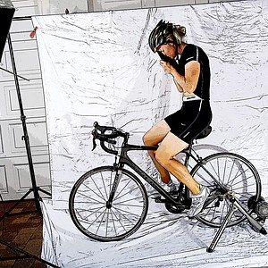 Suzann Pettersen shows off her athleticism with a new hobby of cycling.