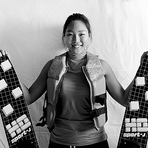 H. K. Seo at her home in Orlando, Fla. talking about her favorite off course hobby, water skiing.