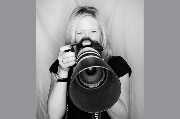 Morgan Pressel has a few selection of lenses to show off for her Canon camera.