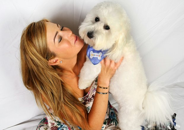 Paula Creamer and Studley at her home in Orlando, Fla.