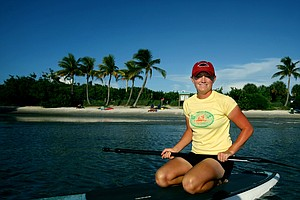 Stacy Lewis enjoys paddle boarding as an off course hobby.