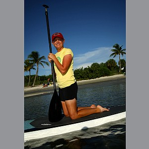 Stacy Lewis in her best year on tour has taken up paddle boarding as a new off course hobby.