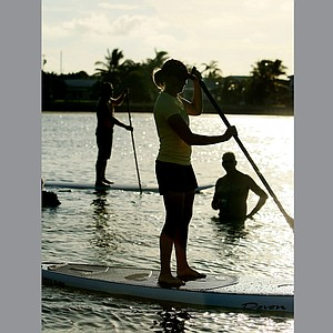 Stacy Lewis is an avid paddle boarder in her off time.
