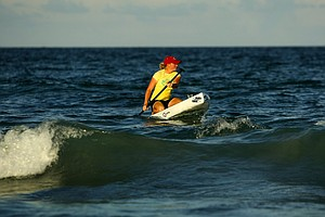 Stacy Lewis like several other LPGA players has taken up paddle boarding as an off course hobby.