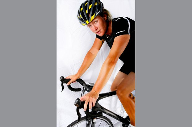 Suzann Pettersen and her off course hobby of cycling.