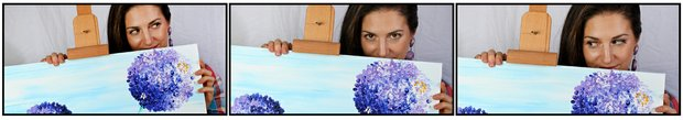 Sandra Gal counts painting as one of her many hobbies off the course.