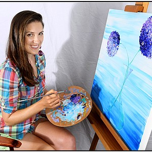 Sandra Gal enjoys painting as one of her off course hobbies.