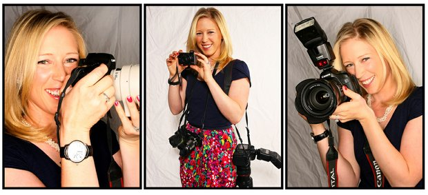 Morgan Pressel with her off course hobby of photography.