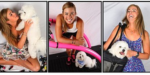 Paula Creamer's first love: Studley, her puppy