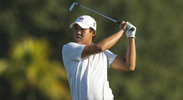 Albin Choi of Canada sunk a 12-footer for par to lead his team to the victory at the Copa de las Americas.