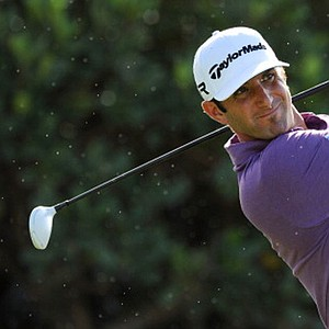 Dustin Johnson hits a drive on the first hole during the replay of the first round of the Hyundai Tournament of Champions at Kapalua.