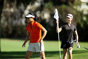Kelly Shon during the 87th South Atlantic Amateur at Oceanside Country Club. Kelly Shon won the event by one stroke.