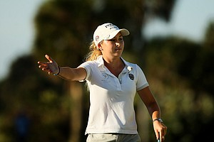 Shannon Aubert made a run in the final round and finished second at the 87th South Atlantic Amateur at Oceanside Country Club.
