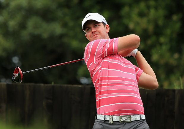 Scott Jamieson tees off at the 6th hole during the third round of the Volvo Champions at Durban Country Club.