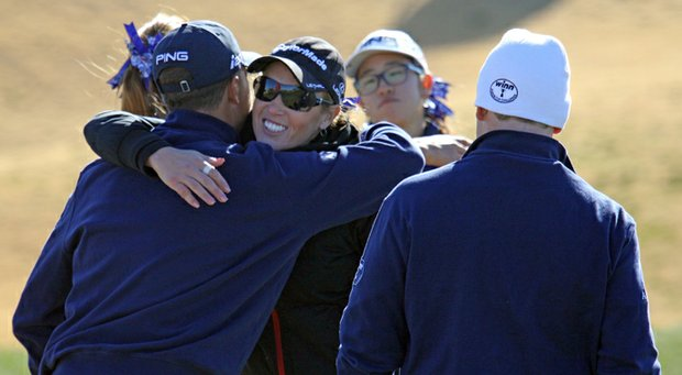The West team, captained by Natalie Gulbis, rolled to a 22-9 victory over the East in the Winn Junior Cup. It was the second straight title for the West.