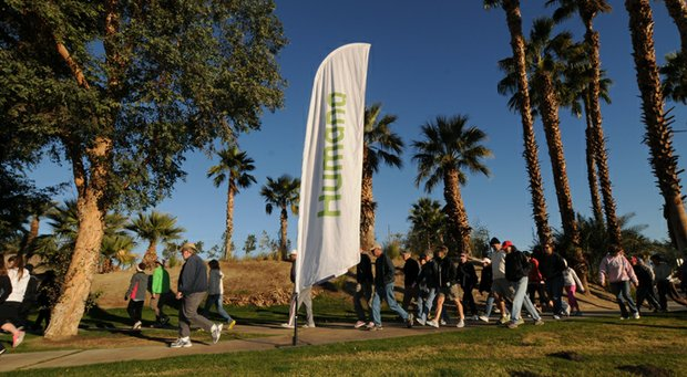 Walkers start Humana Challenge week at the Humana Well-Being Walk along Bear Creek Trail in La Quinta, Calif.