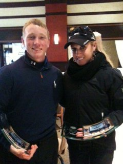 Brad Dalke and LPGA player Natalie Gulbis at the 2012 Winn Junior Cup.