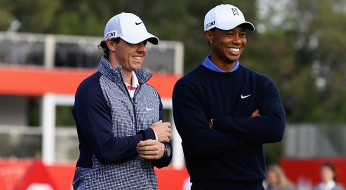 Rory McIlroy and Tiger Woods are paired together for the first and second round of the Abu Dhabi HSBC Golf Championships along side Martin Kaymer.