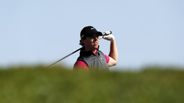 Rory McIlroy follows a shot during the first round of the Abu Dhabi Golf Championship.