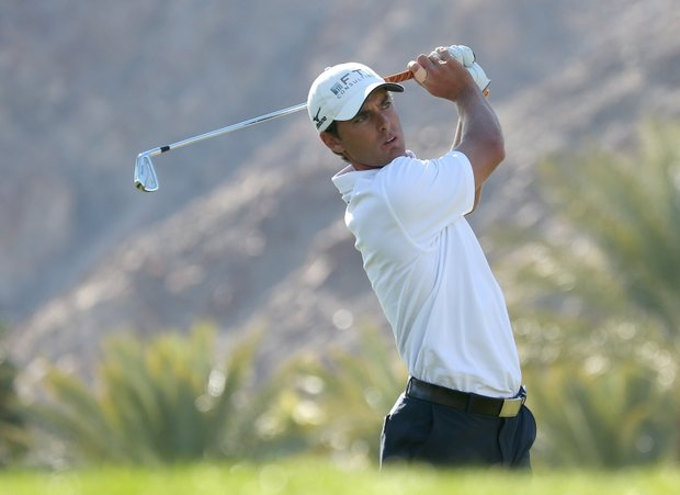 Charles Howell III hits his tee shot on the fifth hole during the final round of the Humana Challenge.