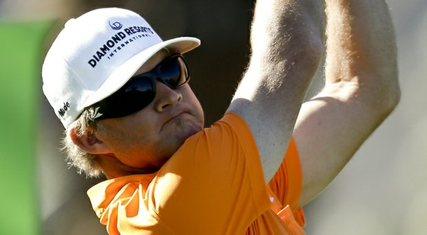 Brian Gay hits from the second tee during the final round of the Humana Challenge.