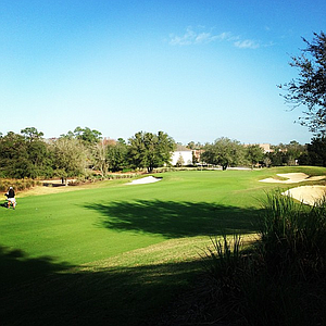 No. 1 on the Watson course at Reunion Resort during the first round of the Annika Invitational.