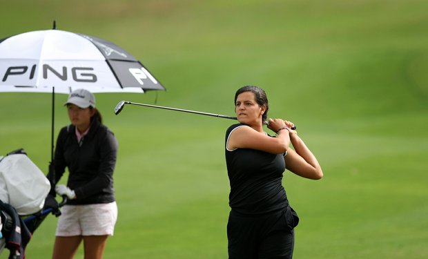 Maria Torres at No. 9 during the Annika Invitational at Reunion Resort.