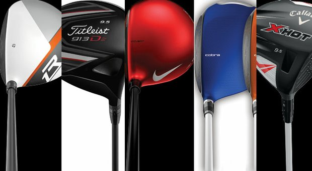 The TaylorMade R1, Titleist 913D2, Nike Covert, Cobra Amp Cell and Callaway X-Hot.